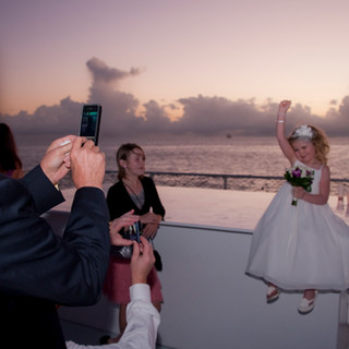 wedding on the water boat picture