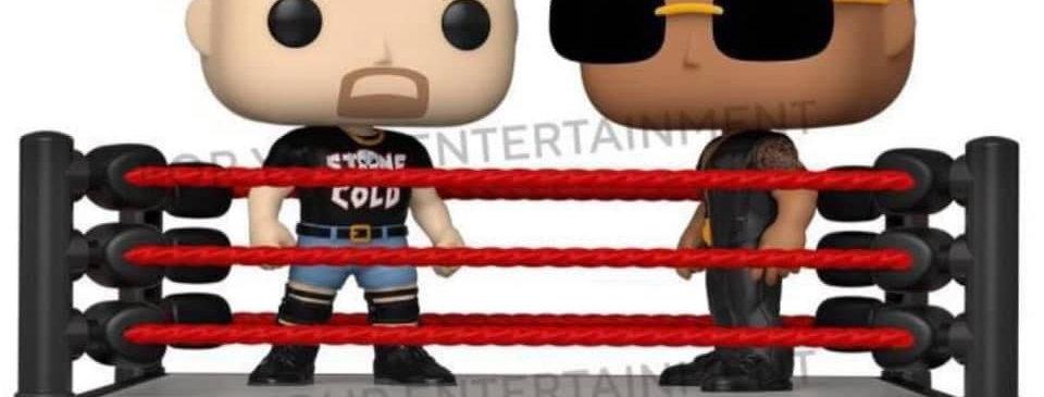 THE ROCK V STONE COLD VINYL MOMENTS (IN RING)WWE POP VINYL *PRE ORDER*