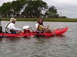 Tybee Fishing Company Kayak Shark fi