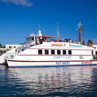 Party Cat Wedding Boat Key West