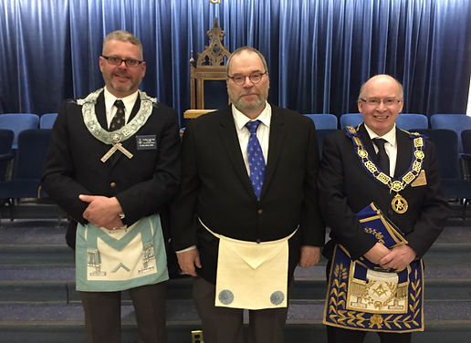 R.W.Bro. James Fadden, W.Bro. Kriss Aiton & Bro. Jason Walters