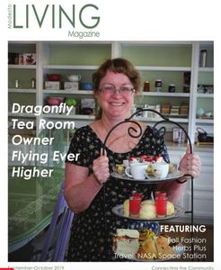 Woman holding tea cake server