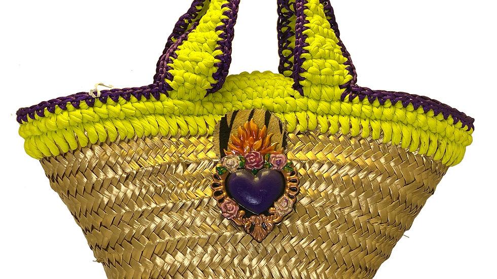 Capazo Corazón violeta