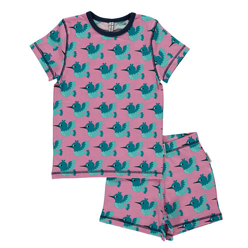 PIJAMA SHORT - MAXOMORRA - HUMMINGBIRD