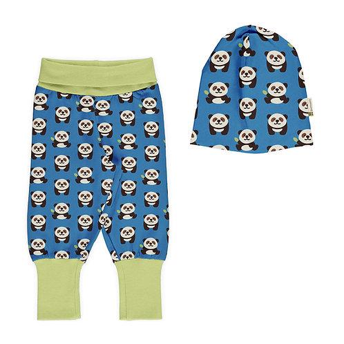 SET BEBÉ - MAXOMORRA - BLUE PANDA PANTS