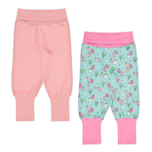 SET BEBÉ 2 PANTS - STRAWBERRY FIELDS PINK