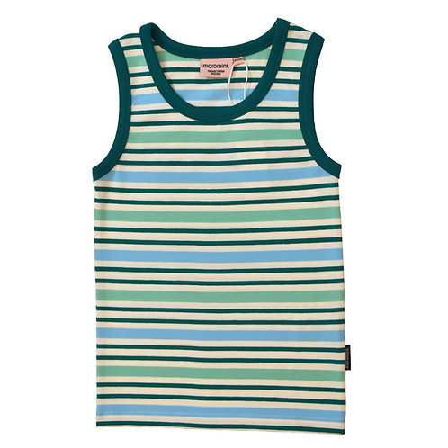 TANK TOP - MOROMINI - GREEN STRIPES