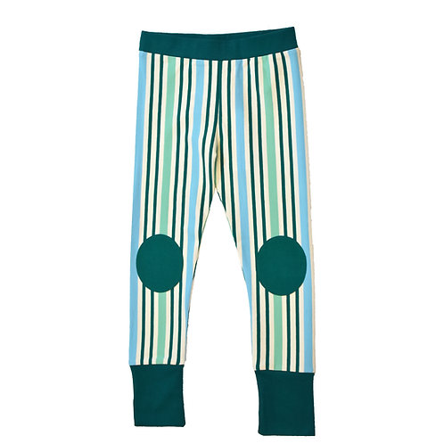 LEGGINS - MOROMINI - GREEN STRIPES