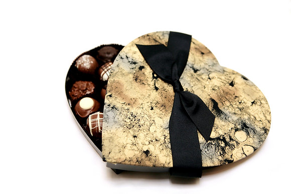 Heart Box Filled with Handcrafted Truffles