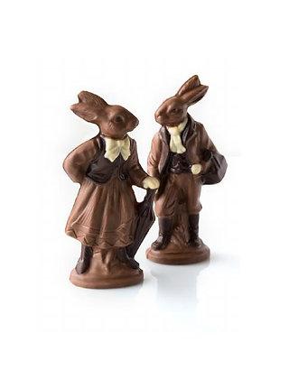 Pair of Chocolate Bavarian Bunnies