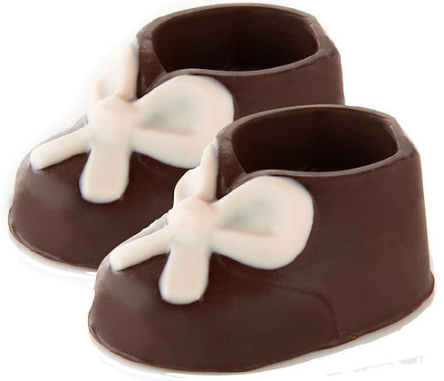 Cute Chocolate Baby Booties