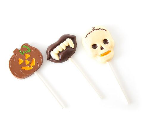 Chocolate Halloween Lollipops