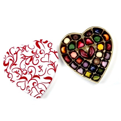 Heart Box Filled with Handcrafted  Bonbons