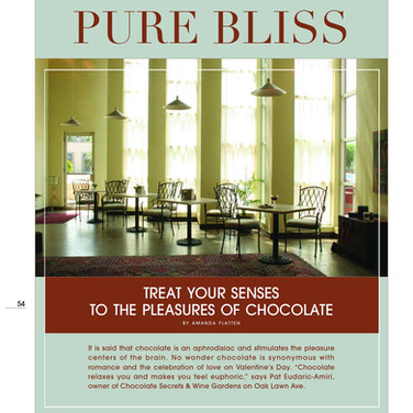 """Treat Your Senses to the Pleasures of Chocolate."" Dallas/Fort Worth House & Home"