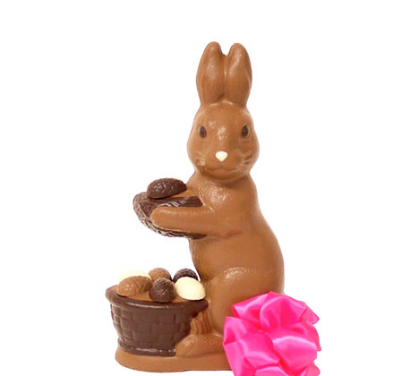 Large Easter Bunny with 2 baskets filled with Jelly Beans and Chocolate