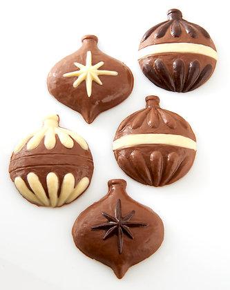 Set of 5 Chocolate Christmas Tree Ornaments