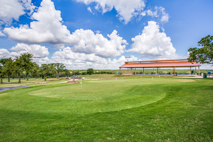 Putting green and covered driving range