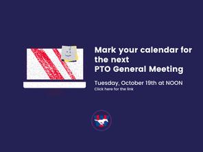 WUES PTO General Meeting 10/19 at NOON