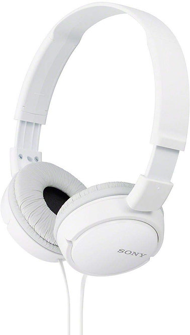 Sony MDR-ZX110A On-Ear Stereo Headphones (White), without mic
