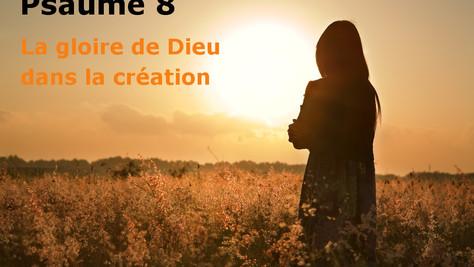 Psaume 8: la gloire de Dieu dans la création