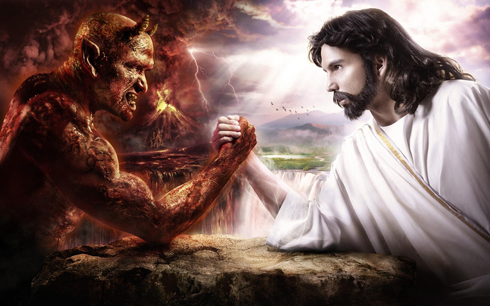 Satan VS Dieu (image d'illustration (sans blague ?!))
