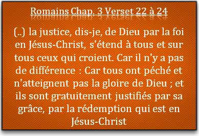 La justice de Dieu par la foi en Jésus Christ ? C'est quoi ça ?