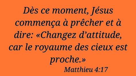Jésus: changez d'attitude. C'est quoi ?