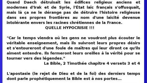 Hypocrisie et laïcisme: christianophobie en France