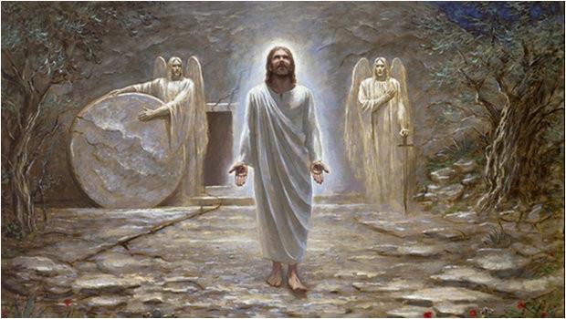 Christ ressuscité en corps glorieux après avoir sauvé l'humanité.