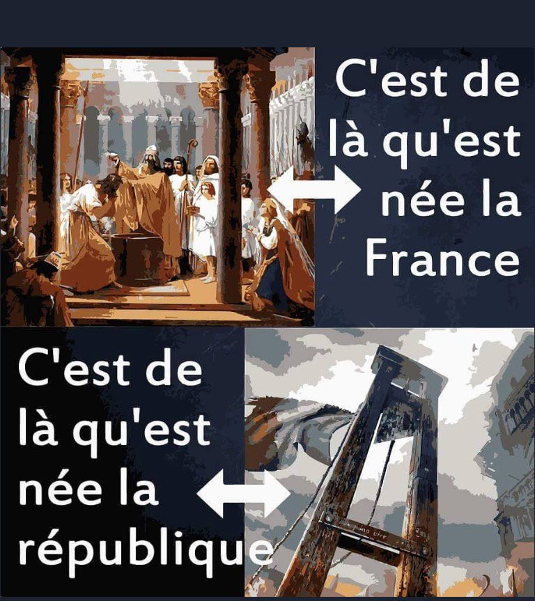 Belle représentation valant 1000 mots et résumant bien l'une des différences majeurs entre vraie France et république.