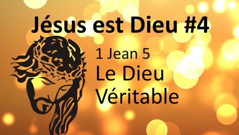 Jésus est Dieu #4: 1 Jean 5, le Dieu Véritable