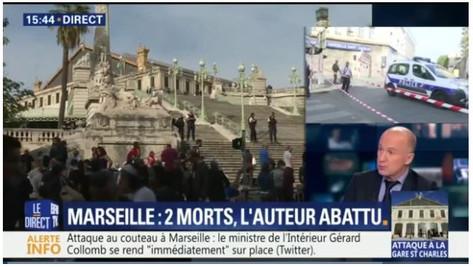 Attentat à Marseille: une femme égorgée et l'autre poignardée, à mort.
