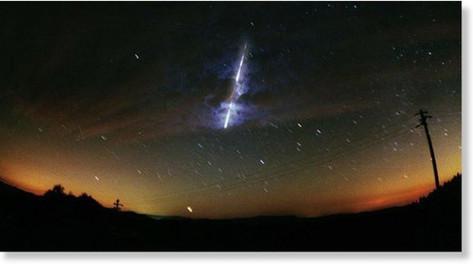 Nouvelle chute de météorite, cette fois en Russie