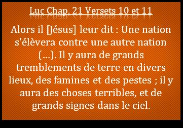 Jésus évoque la fin des temps, la Bible est d'actualité !