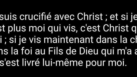 Je suis crucifié avec Christ