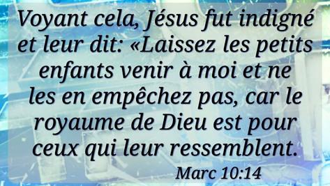 Parole de Jésus, qui calme !