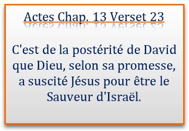 Jésus le Sauveur, la promesse de Dieu