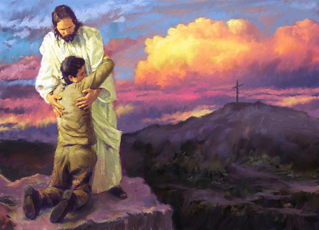 l'Homme abattu revient vers son Père céleste