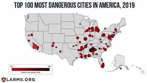 La criminalité violente augmente de façon spectaculaire dans les grandes villes américaines