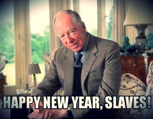 Un de nos vénérables maîtres, Rothschild, nous souhaite une bonne année