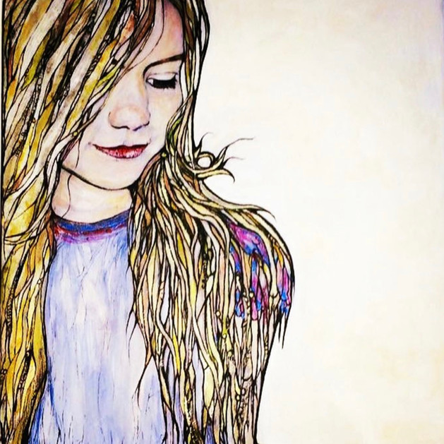 """""""Portrait of Ava ....Sold"""