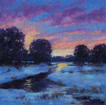 Sunset on Winter Marsh