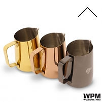 Wpm milk pitcher 450cc 尖嘴 奶勺 Gold Rose Gold Titanium Black 金 玫瑰金 鈦黑