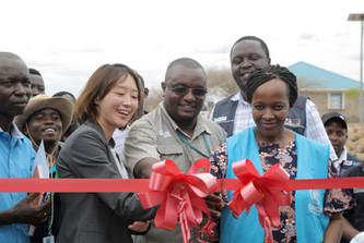 Opening of a school facility in Kalobeyei, Kakuma