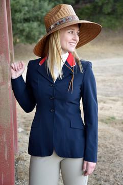 Custom horse show hat