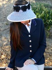Black & White Woven RIATA Visor with White Trim