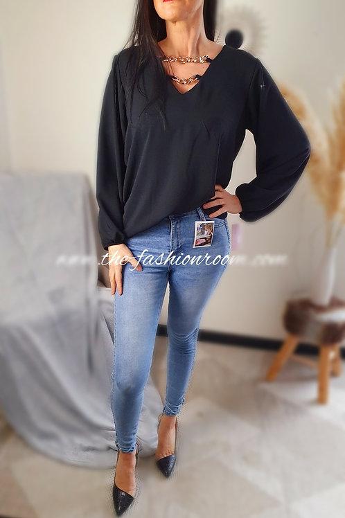 jeans avec liens à nouer