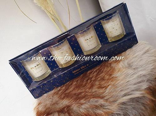 coffret de 4 bougies parfumées