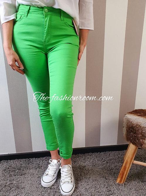 jeans nina vert acidulé