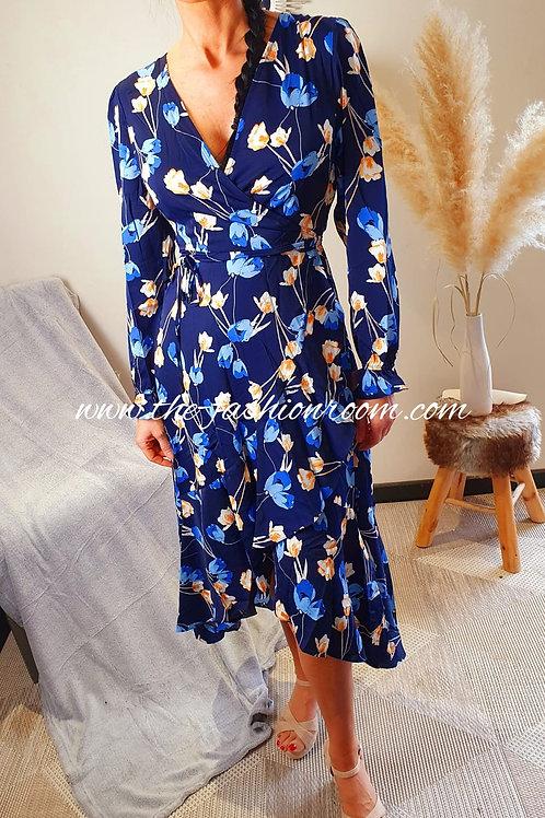 robe asymétrique fleurie